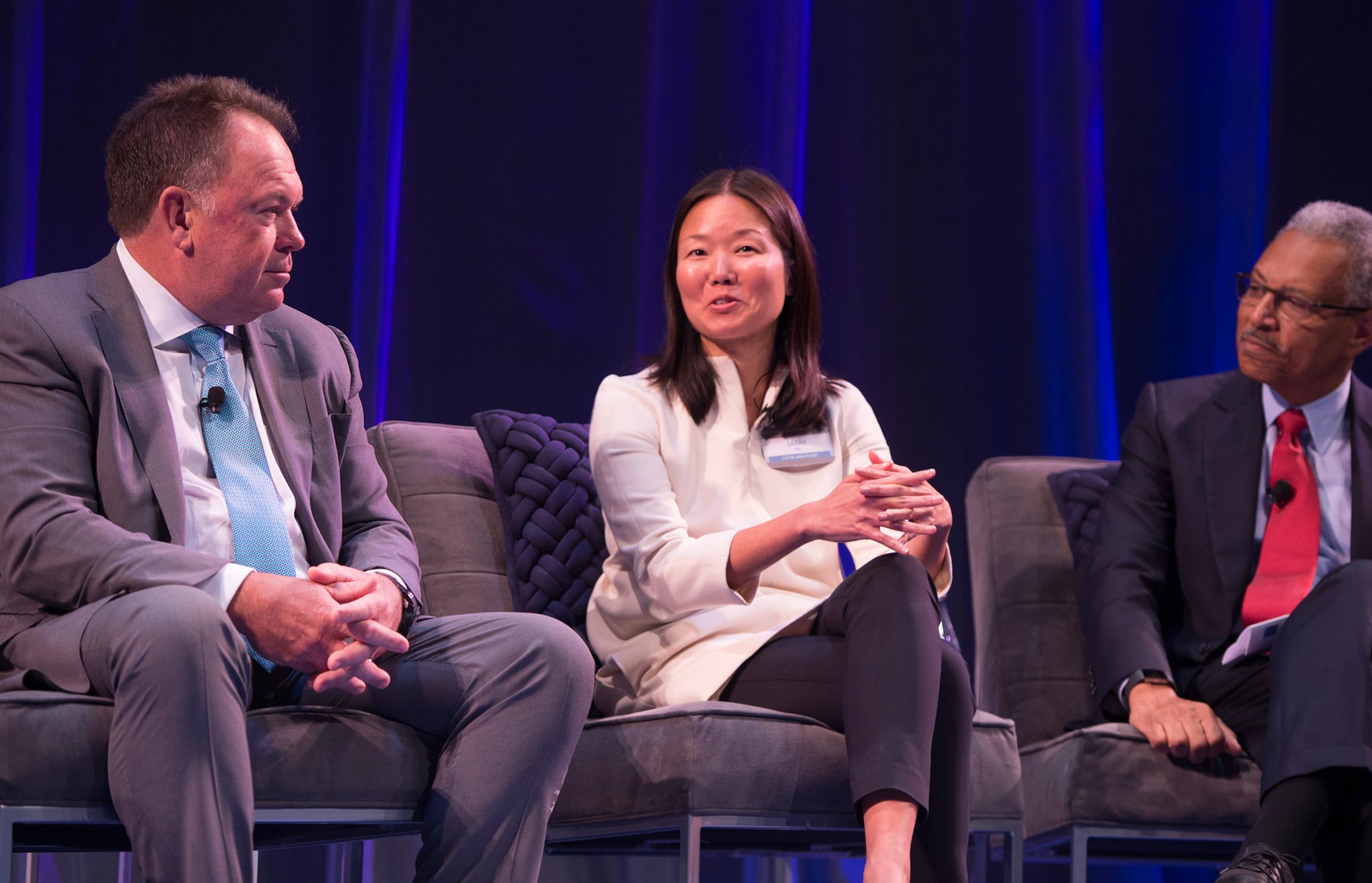 John Dineen, Sarah Kim and Ron Williams