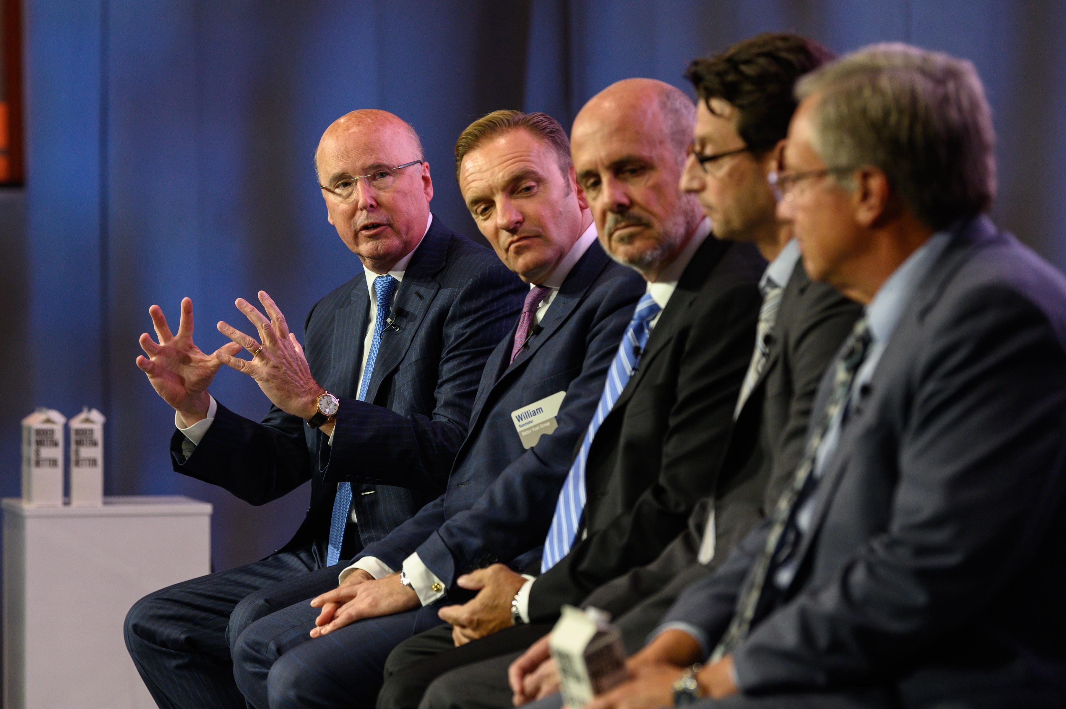 Knisely (speaking, far left)