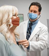 Millennium doctor and patient