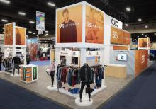 S&S Activewear tradeshow display