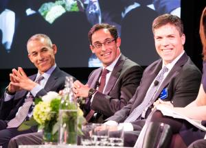 Photo of Richard Schnall, David Novak and Nathan Sleeper